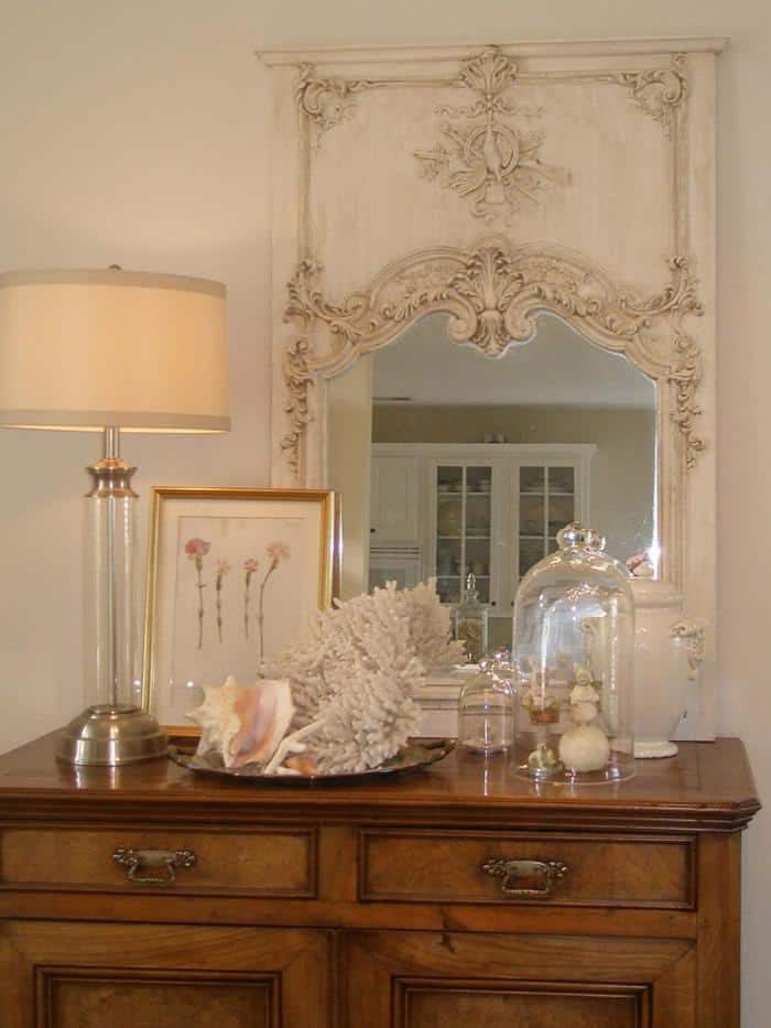 Reflective Display coastal glam decor